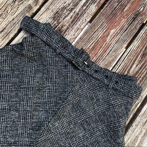 Zara Dark Grey Plaid Skirt
